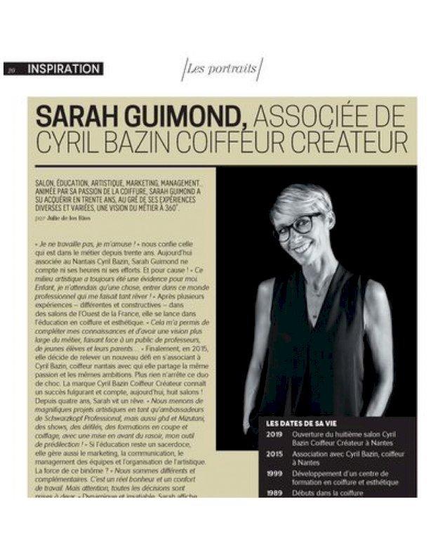 Sarah GUIMOND magazine Biblond pour les coiffeurs