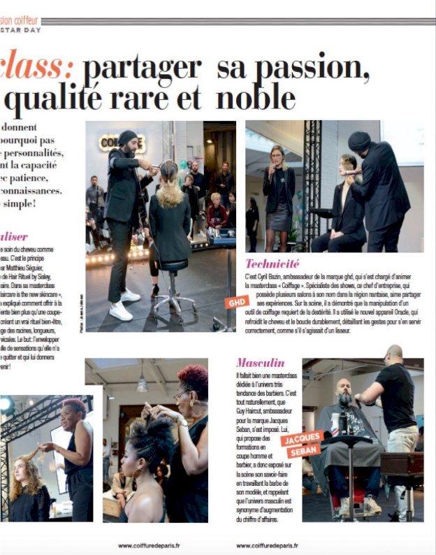 Cyril Bazin ambassadeur ghd. pour coiffure de paris