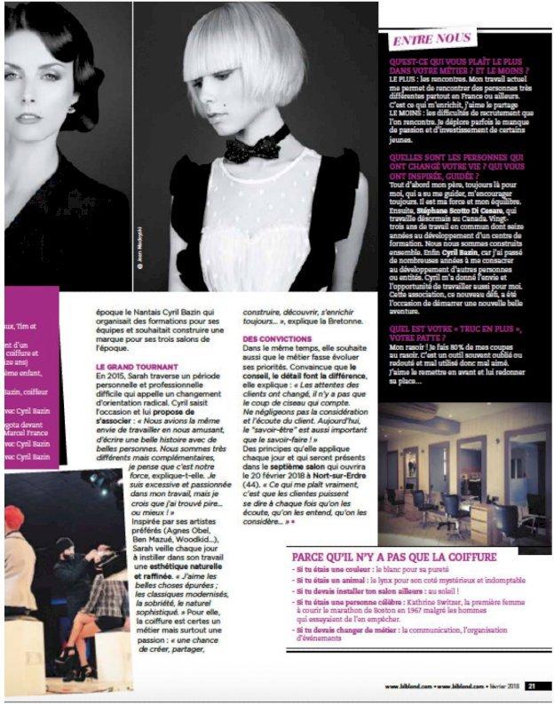magazine Biblond pour les coiffeurs