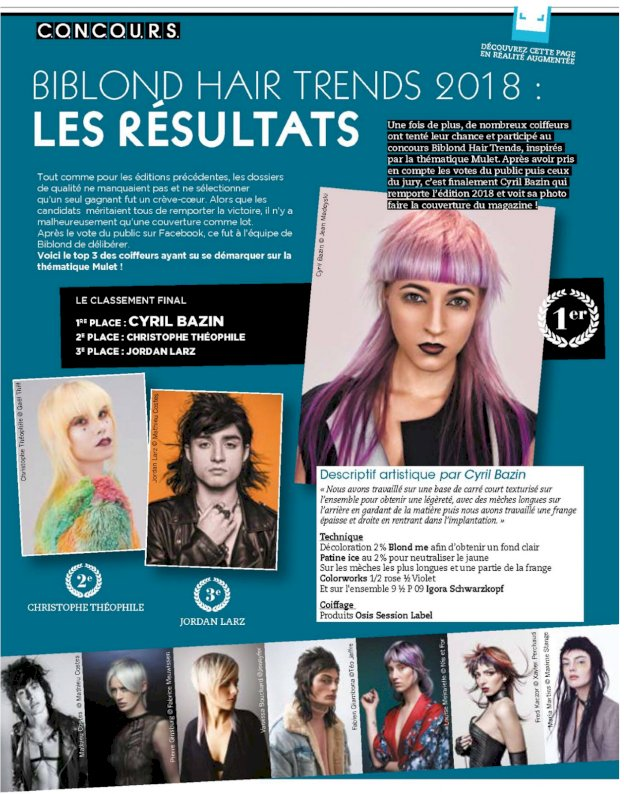 concours magazine Biblond